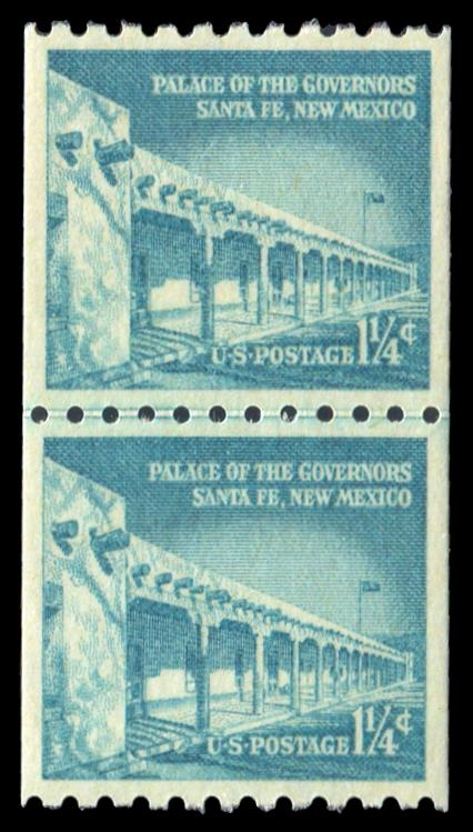 1054A MNH Coil Line Pair PSE Graded 98, Cert # 01329369 - Click Image to Close