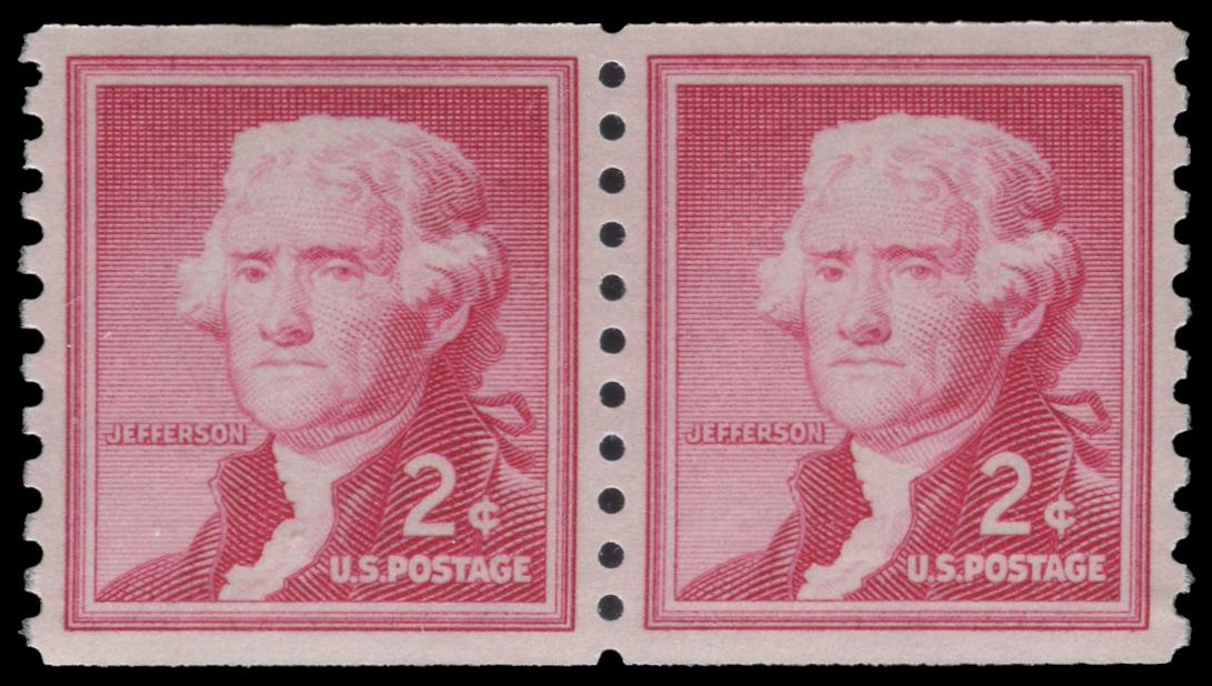 1055b MNH Coil Pair PSE Graded 100, Cert # 01335495