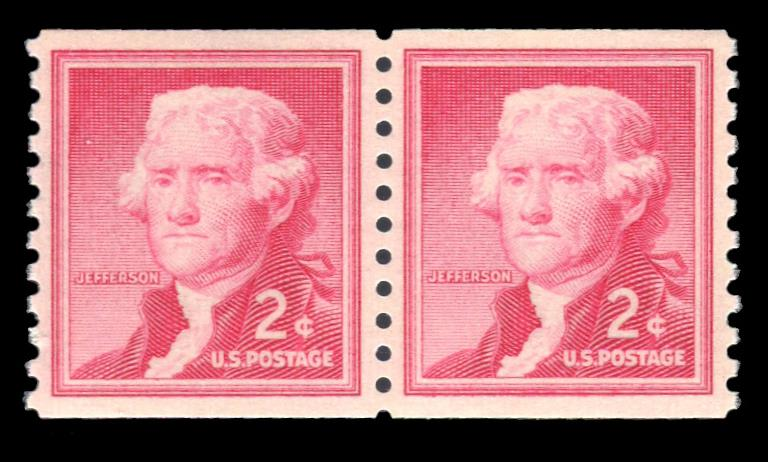 1055b MNH Coil Pair, PSE Graded 95, Cert # 01318709
