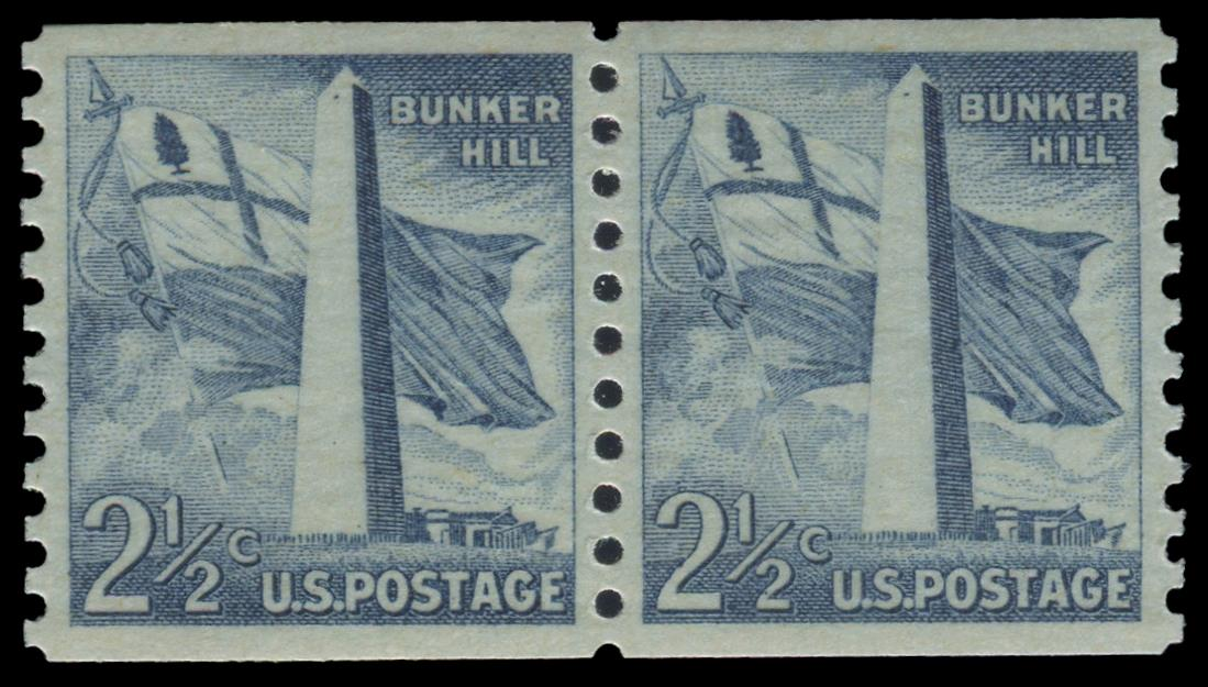 1056 MNH Coil Pair PSE Graded 95, Cert # 01335840