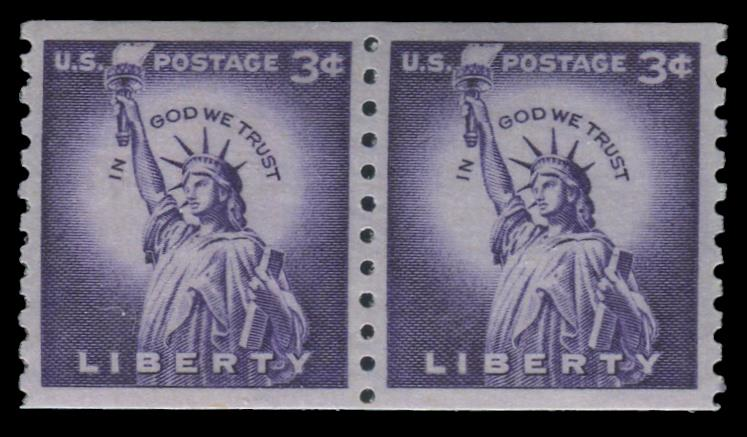 1057a MNH Coil Pair PSE Graded 98, Cert # 01326581
