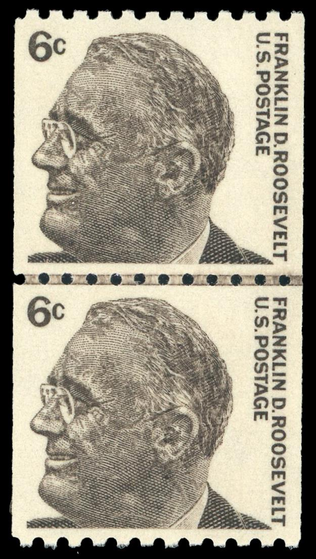 1298 MNH Coil Line Pair, PSE Graded 95, Cert # 01346825