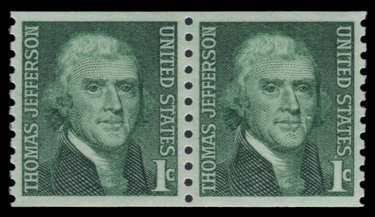 1299 MNH Coil Pair PSE Graded 98, Cert # 01327739