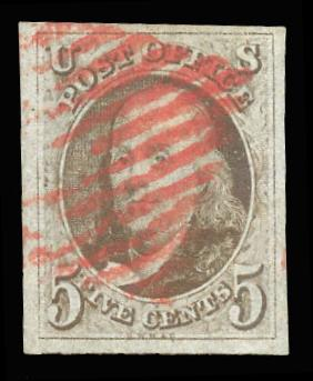 # 1 Used, PSE Graded 95 w/ Red Grid cancel, PSE Cert # 01169451