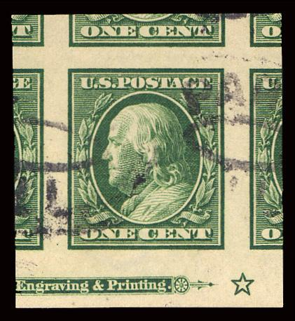 #383 Used Single with Imprint PSE Graded 100, Cert # 01261809