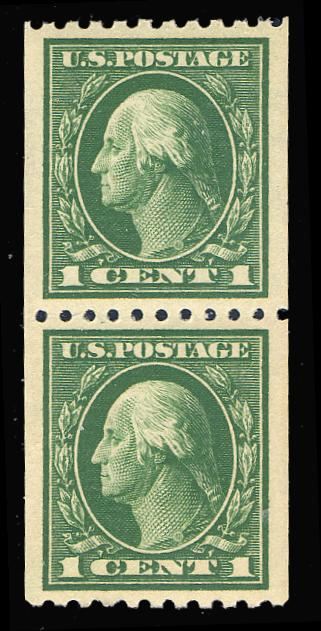 #441 MNH Coil Pair, PSE Graded 98, PSE Cert # 01252360