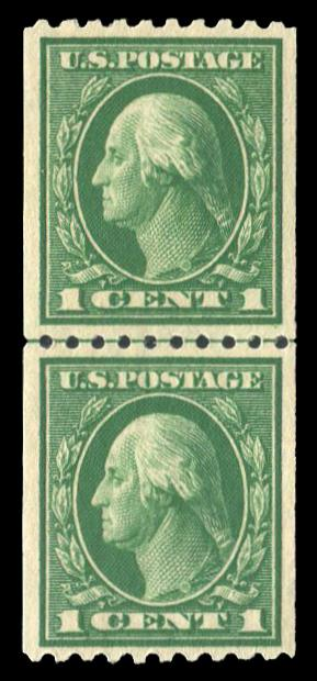 #441 MNH Coil Line Pair, PSE Graded 80, Cert # 01288066