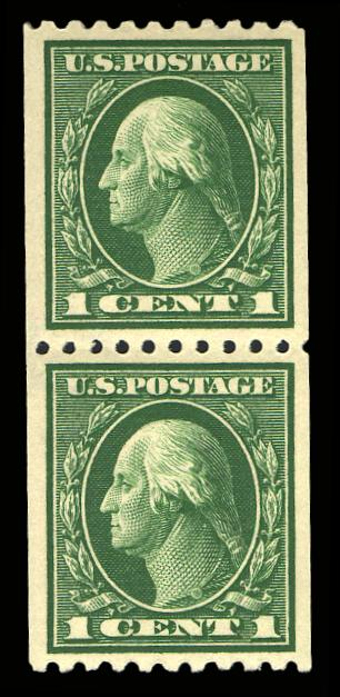 #441 MNH Coil Pair, PSE Graded 90, Cert # 01033421