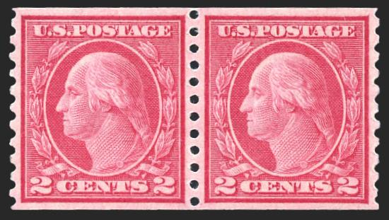 #455 MNH Coil Pair, PSE Graded 95, Certificate # 01205523
