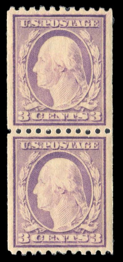#489 MNH Coil Pair PSE Graded 90, PSE Cert # 01322645