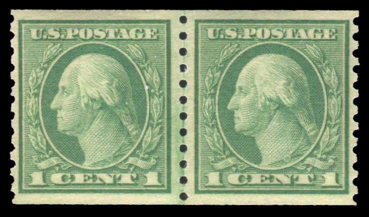 #490 MNH CoilLine Pair PSE Graded 90, Cert # 01290079