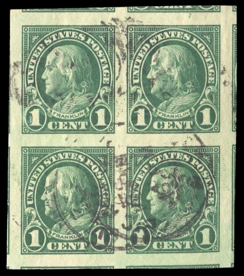 #575 Used Block of Four Pair PSE Graded 100, Cert # 01319441