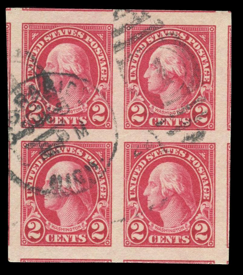 #577 Used PSE Block of Four, PSE Graded 100, Cert # 01296794