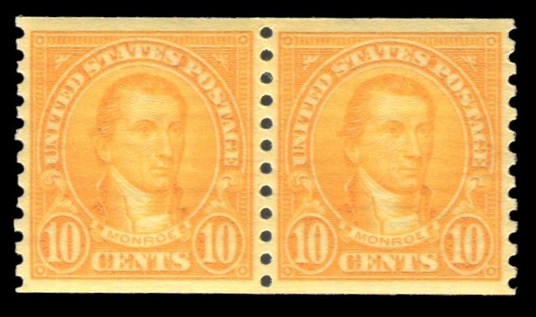 #603 MNH Coil Pair PSE Graded 95, PSE Cert # 01325626