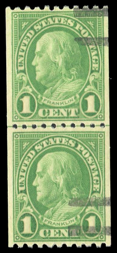 #604 Used Coil Line Pair PSE Graded 85, Cert # 01334292