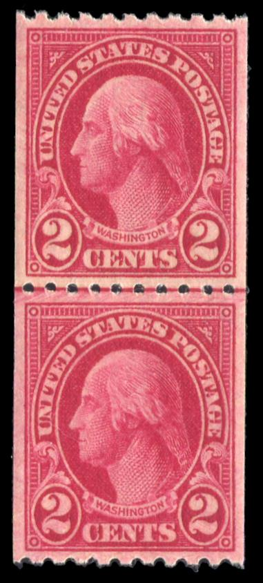 #606a, Carmine Lake, MNH Line Pair, PSE Graded 90, $1000.00