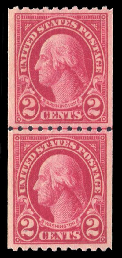 #606 Coil Line Pair, MNH, PSE Graded 90, Cert # 01329379