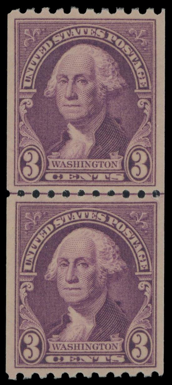 #722 MNH Coil Line Pair, PSE Graded 95, Cert # 01343865