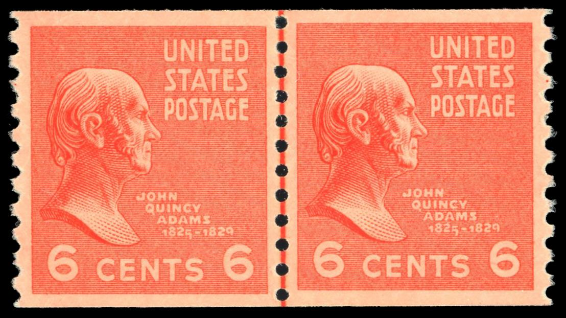 #846 MNH Coil Line Pair, PSE Graded 90, Cert # 01346818