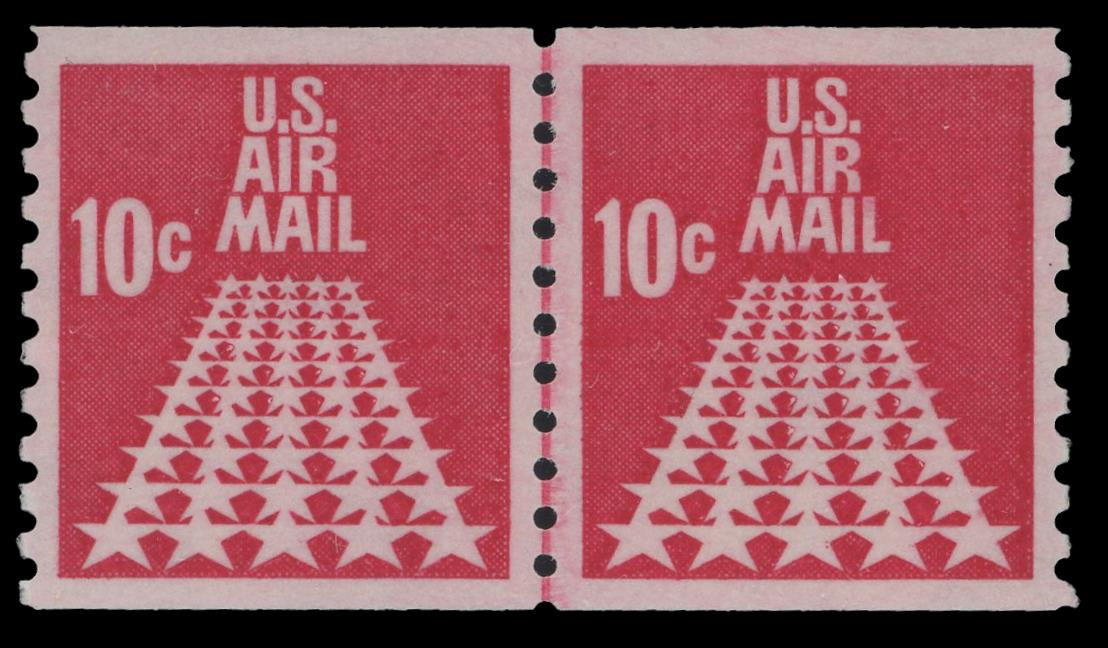 C73 MNH Line Pair PSE Graded 95, Cert # 01337416