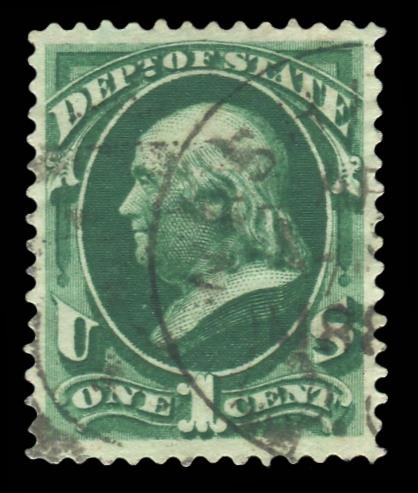 O-57 Used PSE Graded 85, PSE Cert # 01303043