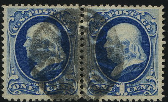"182 Pair with Superb strike of a 'Boston Mass."" negative cancel"