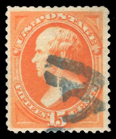 "189 Used with Blue ""W"" Fancy Cancel, Cert # 01305463"