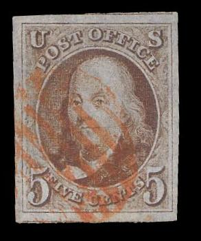 # 1 Used, PSE Graded 95 w/ Red Grid cancel, PSE Cert # 01116445