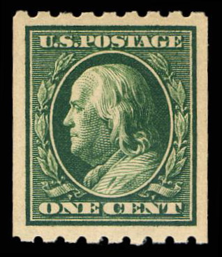 #390 MNH Coil Single PSE Graded 95, PSE Cert # 01187554