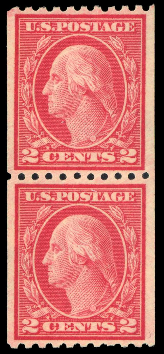 #450 MNH Coil Pair PSE Graded 80, PSE Cert # 01348256