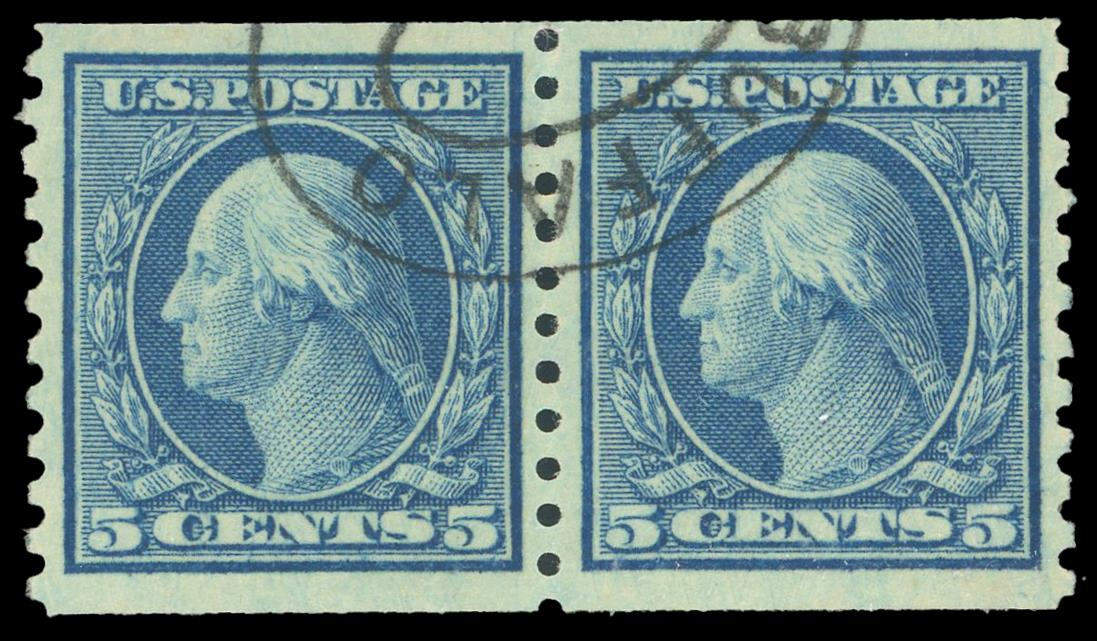 #496a Used Coil Pair, PSE Graded 85, Cert # 01348272