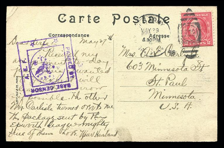 #499f AEF Booklet Single on Postcard, PSE Certified