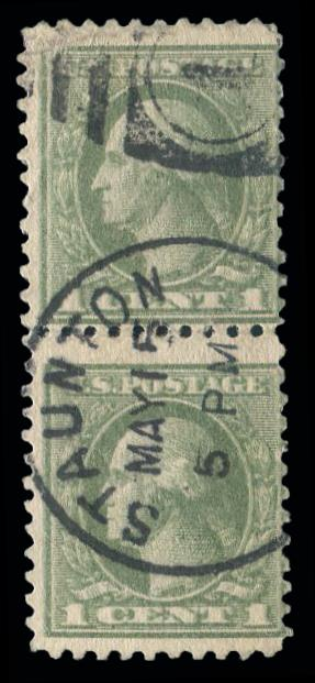 "#525d used pair ""Double Impression"" w/faults"