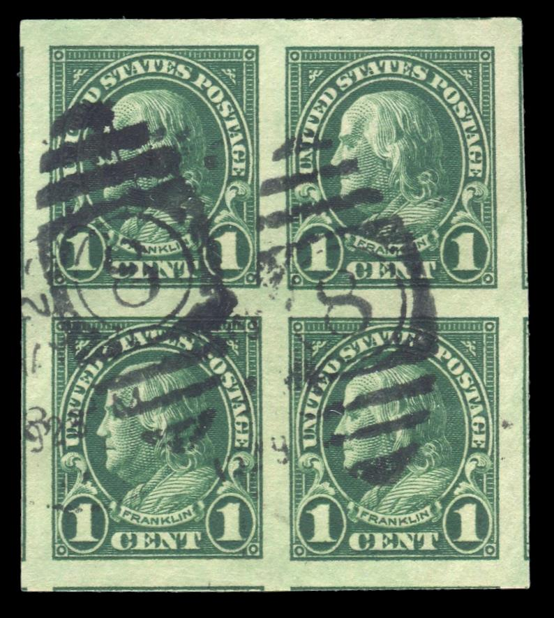 #575 Used Block of Four PSE Graded 100, Cert # 01322248