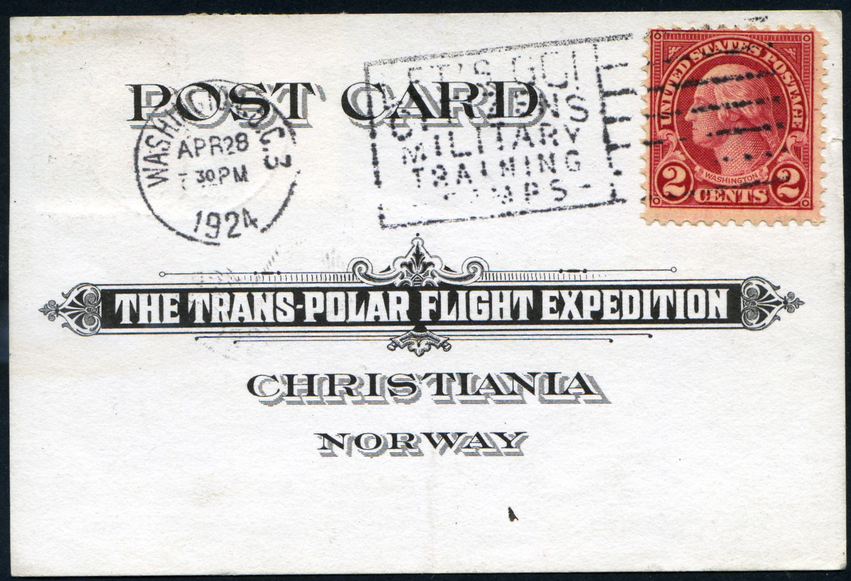 #595 on Trans-Polar Flight Expedition Cover