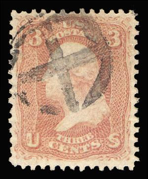 #65 Used with a Cross Fancy Cancel, PSE Certificate # 01236285