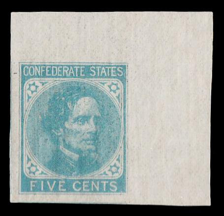 CSA #6 MNH Corner stamp PSE Graded 100
